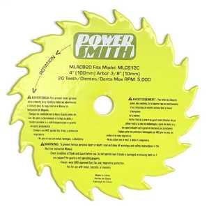 PowerSmith MLACB20 4-Inch 20-Tooth Tct Circular Saw Blade