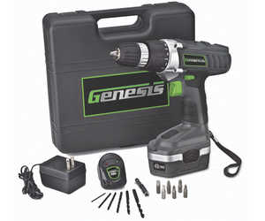 Genesis GCD18BK 18v Cordless Drill/Driver Kit