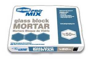 Ash Grove 00129 Glass Block White Mortar 50 Lbs