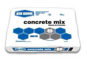 Ash Grove 00157 Concrete Mix 60 Lbs