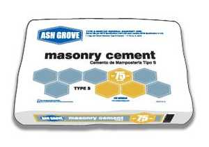 Ash Grove 44.180 Masonry Cement Type S 75 Lbs