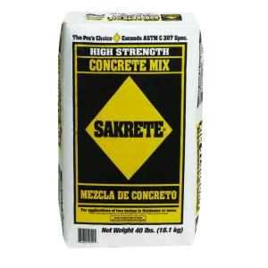 Sakrete 65201030 High Strength Concrete Mix 40 Lbs