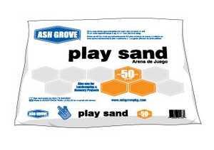 Ash Grove 361.50.AG Play Sand Plastic Bag 50 Lbs