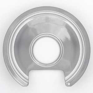 Lux Products PW6-010 Range Trim Pan 6 In Porcelain Range With Cut/Lip