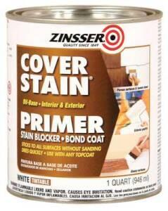 Zinsser 03504 Cover-Stain Interior/Exterior Oil-Base Primer White Quart