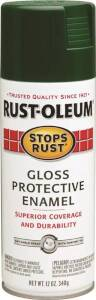 Rust-Oleum 7738830 Stops Rust Interior/Exterior Protective Enamel Spray Paint Hunter Green Gloss Finish 12-Ounce Can