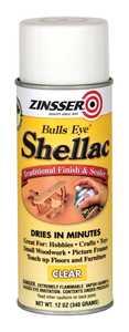 Zinsser 408 Bulls Eye Spray Shellac Clear 12-Ounce Can