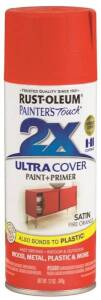 Rust-Oleum 263149 Painter's Touch Spray Paint And Primer Fire Orange