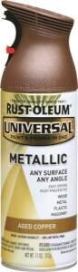 Rust-Oleum 249132 Universal Interior/Exterior Metallic Spray Paint Aged Copper