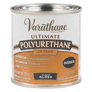 Rust-Oleum 9061H Varathane Interior Ultimate Polyurethane Clear Gloss Finish 1/2-Pint