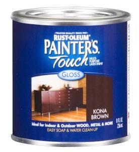 Rust-Oleum 1977730 Painters Touch Kona Brown 1/2 Pt