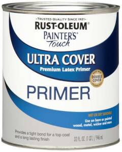 Rust-Oleum 1980502 Painters Touch Gray Primer Qt