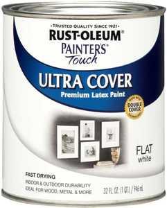 Rust-Oleum 1990502 Painters Touch Flat White Qt