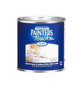 Rust-Oleum 1993730 Painters Touch Semi Gloss White 1/2 Pt