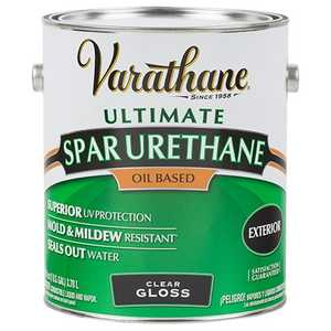 Rust-Oleum 9231 Varathane Exterior Ultimate Spar Urethane Clear Gloss Finish Gallon