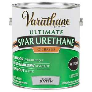 Rust-Oleum 9331 Varathane Exterior Ultimate Spar Urethane Clear Satin Finish Gallon