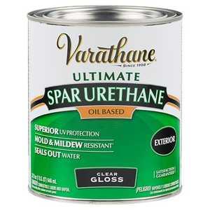 Rust Oleum 9241 Varathane Exterior Ultimate Spar Urethane Clear Gloss Finish Quart At Sutherlands