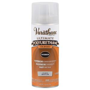 Rust-Oleum 9181 Varathane Interior Ultimate Polyurethane Clear Satin Finish 11-1/4-Ounce Can