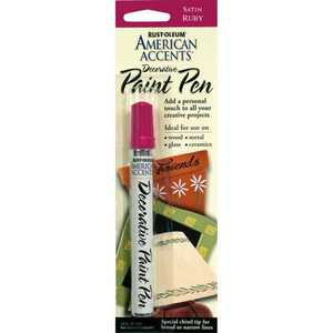 Rust-Oleum 215154 American Accents Decorative Paint Pen Satin Ruby