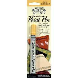 Rust-Oleum 215156 American Accents Decorative Paint Pen Satin Buttercup