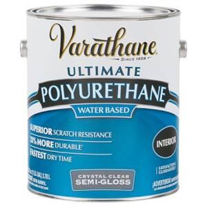 Rust-Oleum 200131 Varathane Interior Ultimate Polyurethane Crystal Clear Semi-Gloss Finish Gallon