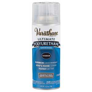 Rust-Oleum 200181 Varathane Interior Ultimate Polyurethane Crystal Clear Semi-Gloss Finish 11-1/4-Ounce Can