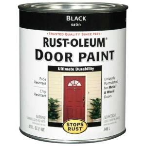 Rust-Oleum 238310 Stops Rust Door Paint Black Satin Qt