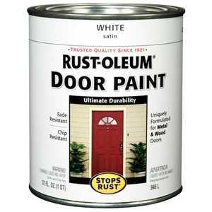 Rust-Oleum 238311 Stops Rust Door Paint White Satin Qt