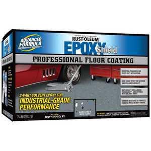 Rust-Oleum 238467 Professional Floor Coating Kit Dark Gray