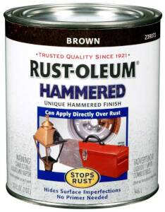 Rust-Oleum 239073 Stops Rust Hammered Brown Qt