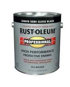 Rust-Oleum 239078 Professional Enamel Semi Gloss Black Gal