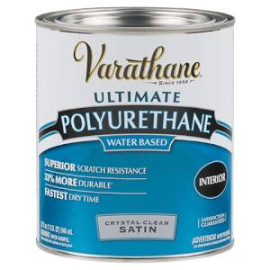 Rust-Oleum 200241H Varathane Interior Water-Based Polyurethane Crystal Clear