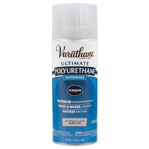 Rust-Oleum 200281 Varathane Indoor Ultimate Polyurethane Crystal Clear Satin Finish 11-1/4-Ounce Can
