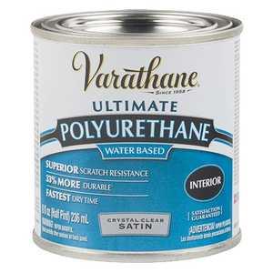 Rust-Oleum 200261H Varathane Interior Ultimate Polyurethane Crystal Clear Satin Finish 1/2-Pint