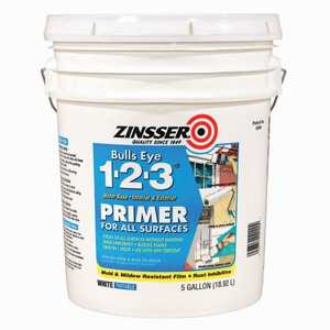 Zinsser 2000 Bulls Eye 1-2-3, Interior/Exterior Water-Base Primer 5-Gallon