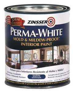 Zinsser 02704 Perma-Guard Interior Mold And Mildew-Proof Satin Quart