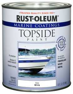 Rust-Oleum 206999 Marine Coatings Topside Gloss White Paint Quart