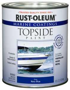 Rust-Oleum 207002 Marine Coatings Topside Navy Blue Paint Quart
