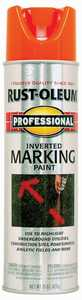 Rust-Oleum 2554838 Professional Exterior Marking Spray Paint Fluorescent Orange