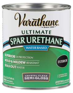 Varathane 250141H 1-Quart Semi-Gloss Water Based Spar Urethane