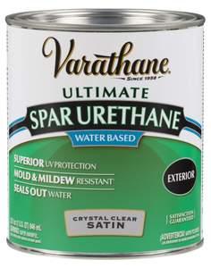 Varathane 250241H 1-Quart Satin Water Based Spar Urethane