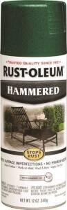 Rust-Oleum 7211830 Stops Rust Interior/Exterior Hammered Spray Paint Deep Green