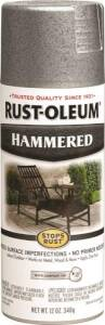 Rust-Oleum 7213830 Stops Rust Interior/Exterior Hammered Spray Paint Silver