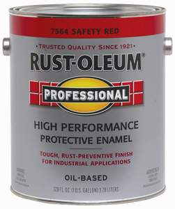 Rust-Oleum Painter's Touch  7564402 1-Gallon Safety Red Brush-On Protective Enamel