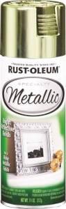 Rust-Oleum 1936830 Specialty Interior Metallic Spray Paint Brass