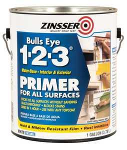 Zinsser 02001 1-Gallon Tintable White Bulls Eye 1-2-3 Primer