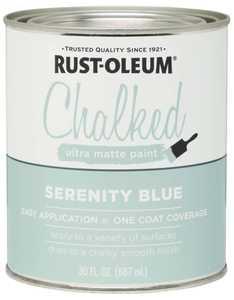 Rust-Oleum 285139 Chalked Ultra Matte Paint Serenity Blue