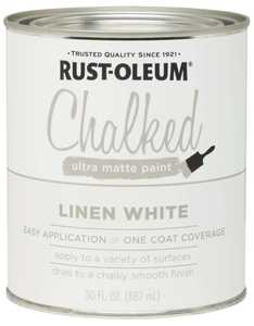 Rust-Oleum 285140 Chalked Ultra Matte Paint Linen White