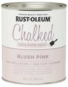Rust-Oleum 285142 Chalked Ultra Matte Paint Blush Pink