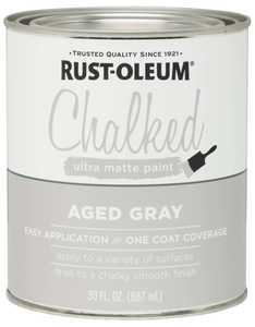 Rust-Oleum 285143 Chalked Ultra Matte Paint Aged Gray